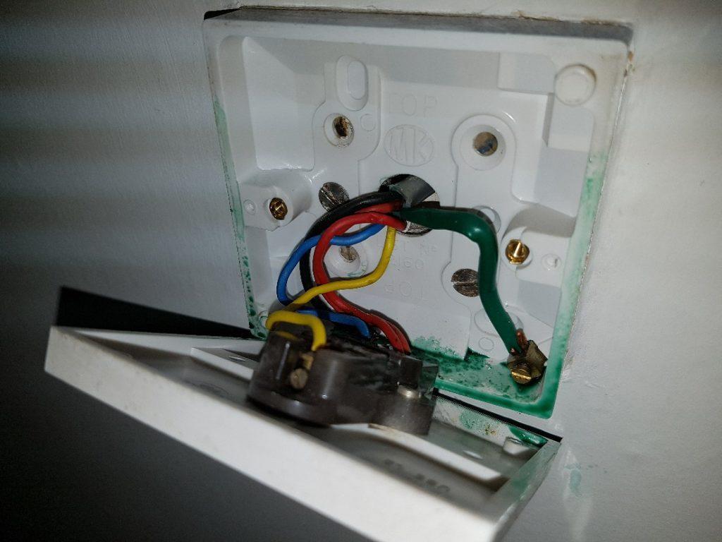 green goo in light circuit