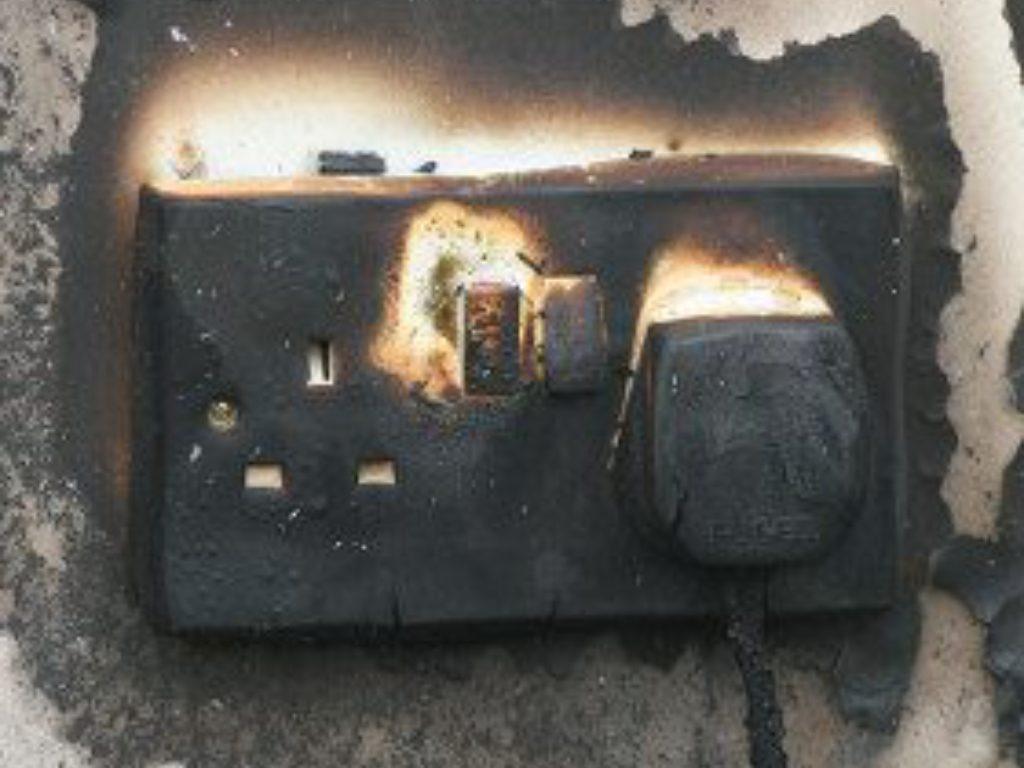 socket-on-fire
